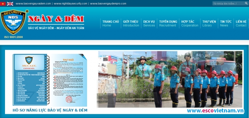 thiet ke website bao ve   baovengayvadem com