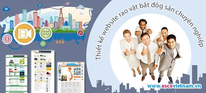 Thiết kế website rao vặt bất động sản chuyên nghiệp